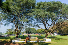 Show Jumping Horse Arena Outdoors Royalty Free Stock Photography