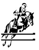 Show jumping vector Royalty Free Stock Images