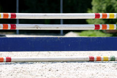 Show jumping hurdle at horse race track Stock Image