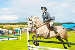 Show jumping at Nairn . Royalty Free Stock Photography