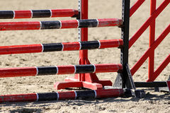 Show jumping obstacles bars for horse jumping event Stock Photos