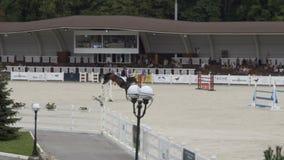 Show jumping. Riding horse.. 10.08.2017. Kyiv. Ukraine. stock video footage