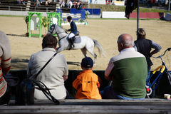Show jumping and spectators 2 Stock Photography