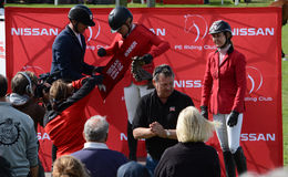 Show jumping winners Royalty Free Stock Images