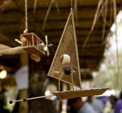 Show making toys from natural raw materials. Royalty Free Stock Photography