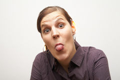 Show me your tongue! Royalty Free Stock Images