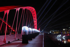 Show on the new bridge in Lyon Royalty Free Stock Image