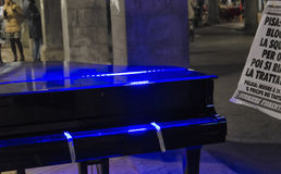Show of piano in the city Royalty Free Stock Photography