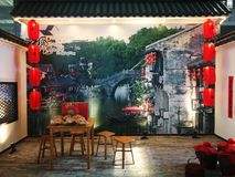 A show platform for fengjing old town Stock Photos