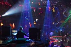 Show of popular Dj Vartan in nightclub Royalty Free Stock Photography