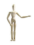 Show Presenter Wood Puppet Stock Image