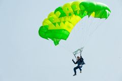 Show program of paratrooper Royalty Free Stock Images