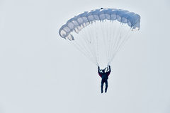 Show program of paratrooper Royalty Free Stock Image