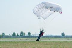 Show program of paratrooper Stock Photo