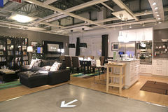 Show room inside ikea store Stock Photography