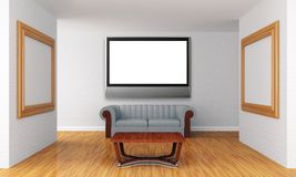 Show room with lcd tv Stock Photography
