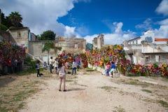 Show in ruins Palacio Belmonte in Lisbon Stock Photos