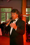 Show singer Sergey Zakharov on the stage of the country club Giving Royalty Free Stock Photo