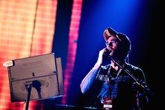 Show Sufjan Stevens (musikband) för levande musik på den Bime festivalen Arkivfoton