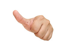 Show thumb symbol Royalty Free Stock Photos