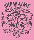 Show time royalty free illustration