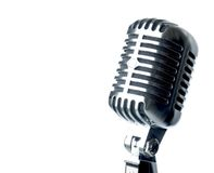 Show Time!. Vintage Microphone With Text Area Stock Images