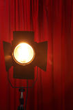 Show time. Curtains and spotted lights wtih space for your text Royalty Free Stock Photos