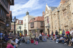 Show Time in Epcot: England Royalty Free Stock Image
