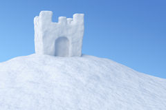 Show tower on snow under sky Stock Photography