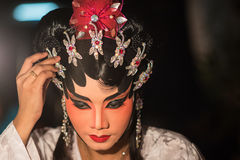 Before the show of traditional Chinese opera Royalty Free Stock Photo