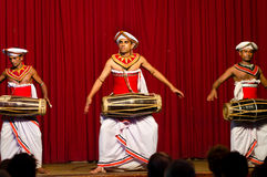 Show in traditional Sri Lankian theatre Royalty Free Stock Photography