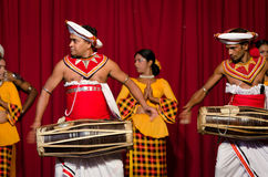 Show in traditional Sri Lankian theatre Royalty Free Stock Image