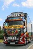 Show Truck Tutankhamun Volvo FH16 in Lempaala, Finland Stock Photography
