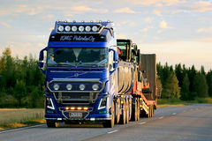Show Truck Volvo FH16 Kung Fu Panda in the Evening Royalty Free Stock Photography