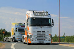 Show Truck Volvo FH XXL in Lempaala, Finland Royalty Free Stock Photography