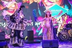 Show Venetian carnival magician illusionist Raman Soup  Borsch . Stock Photography