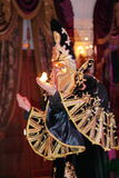 Show Venetian carnival magician illusionist Raman Soup. Stock Photography