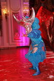 Show Venetian carnival magician illusionist Raman Soup. Stock Photos