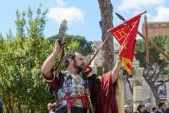 Show von alten Römern im Geburtstag von Rom-Gelegenheit Lizenzfreie Stockfotografie