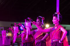 The show women dance thailand northeast culture style Stock Images