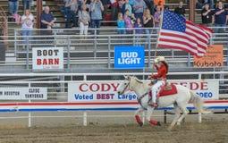 Show Wyoming för Cody nattrodeo royaltyfri fotografi