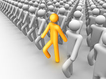 Show your difference. 3d rendered stick figure: Show your difference Royalty Free Stock Photo