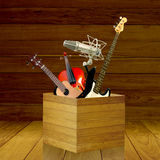 Show your music skill. Talent concept Stock Image