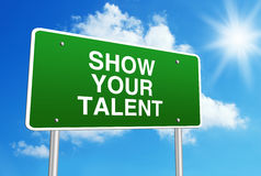 Show your talent Royalty Free Stock Image