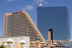 The Showboat Casino with the Revel Casino behind it in Atlantic City, New Jersey Stock Images
