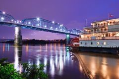 Showboat in Chattanooga. Showboat on the Tennessee River in Chattanooga, Tennessee royalty free stock photos