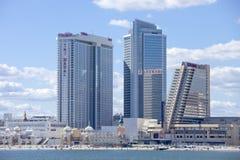 The Showboat and Taj Mahal   Casino in Atlantic City Royalty Free Stock Photos