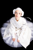 Showbusiness model. Portrait of a styled professional model. Theme: art, antiquity, theatre, ballet, performance.  Shot in studio Stock Photos