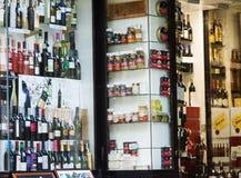 Showcase alcohol store in Logrono, La Rioja Royalty Free Stock Photo