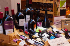 Showcase alcohol store in Logrono. Spain Royalty Free Stock Images